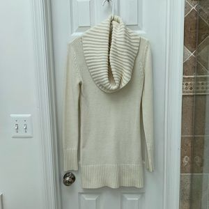 Ivory cowl neck sweater tunic